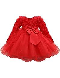 b2c73846c28d8 Abito Vestito Floreale Bambino Ragazza Bowknot Festa di Carnevale  Principessa Damigella d Onore Pageant Toga