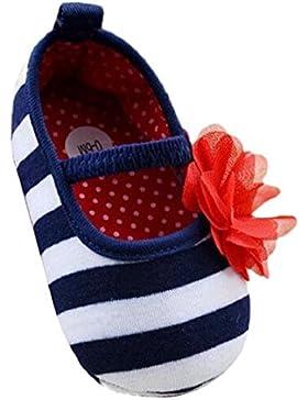 Culater® Flor Rayada Nacido Bebé Zapatos Suaves Sole Zapatos Para Niñas
