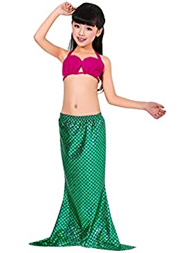 MissFox Ragazze Coda Da Sirena Swimwear 3Pieces Bikini Costume Costume Carnevale Travestimento Da Sirenetta