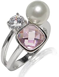 Rafaela Donata Ring Sterling Silber Zirkonia rosé/weiß