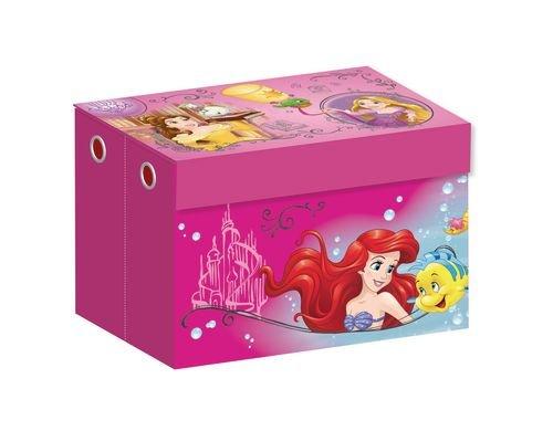 *Spielzeugkiste faltbar AUSWAHL Princess Spielzeugbox Aufbewahrungsbox Canvas Spieltruhe Spielebox (Princess)*