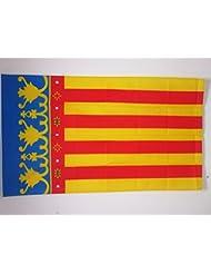 BANDERA de la COMUNIDAD VALENCIANA 150x90cm - BANDERA VALENCIANA 90 x 150 cm - AZ FLAG