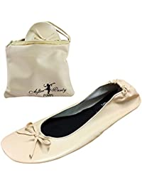 191a101d19d After Party Pumps Ladies Roll up Shoes Fold up Pumps with Carrier Pouch 3  Ranges Original