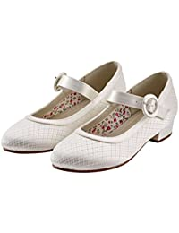 9070ac5670da Miss Rainbow Kids Mary Jane Bridesmaid Shoes Girls - Aubree - Vintage  Inspired Lace Mary-