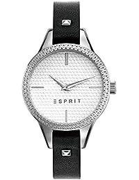 Esprit Damen-Armbanduhr Schwarz Analog Quarz Leder ES109052006