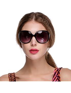 Teamyy Gafas de Sol Moda para Mujer Estilo Retro Vintage Sunglasses Oversized