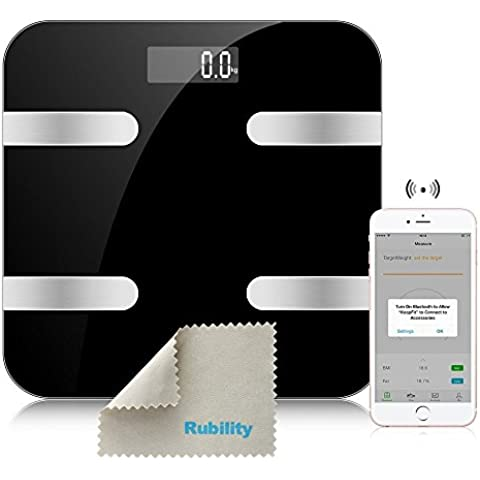 Rubility® F13B Multifuncional Smart Scale Digital Inteligente Báscula Pesa Escala Báscula digital para Android & IOS
