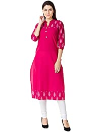 M&D 3/4 Sleeve Casual Wear Pure Cotton Printed Women's Kurti