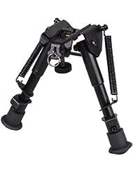 Muy agradable bípode táctica de metal (pequeño), telescópico, ajustable en altura (15 a 23 cm)
