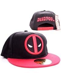 Marvel Comics Deadpool hombres del casquillo del snapback - logotipo clásico de béisbol Cap negro