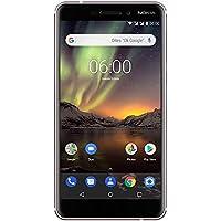 Nokia 6.1 - Dual SIM - Smartphone Débloqué 4G LTE (Ecran : 5,5 Pouces Full HD - Format 16:9 - 3Go RAM - 32Go Stockage - Android One) Blanc [Version Française]