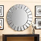 Art Deco Round Wall Mirror By Venetian Design Diameter 30 Inches