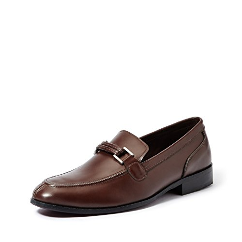 Symbol Men's Brown Formal Slip-On Shoes