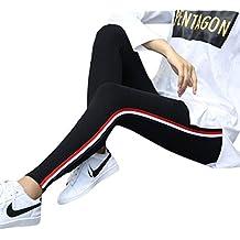 Lamdoo - Leggings de Algodón Elástico para Mujer, Talla Grande, Color Gris Claro 4XL