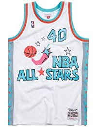 Mitchell & Ness All Star Game – Shawn Kemp Swingman Jersey Camiseta Blanco, Hombre,