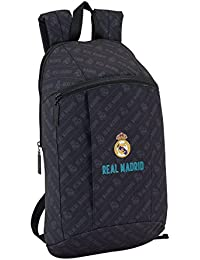 Safta Mini Mochila Day Pack Estamp Real Madrid Black Oficial Uso Diario 220x100x390mm