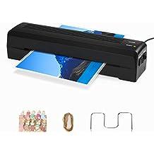 Plastificadora TOQIBO Plastificadora A4 con 2 Rodillos de 250mm / min Rápido Calentamiento de Laminado, 240mm A4 de Ancho Máximo para Documentos / Fotos / Tarjetas de Mano [+10 Clip de La Foto]