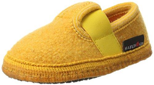 Haflinger Unisex-Kinder Slipper Joschi Pantoffeln, Gelb (Mais 52), 23 EU