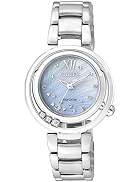 Citizen Damen-Armbanduhr Citizen L Analog Quarz Edelstahl EM0321-56D