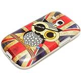 DeinPhone coque de protection pour samsung galaxy s3 mini étui de protection en silicone motif chouette/drapeau britannique