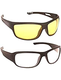 efbc2a6a770 Hipe Day and Night Vision Goggles for Riding Bikes Combo Pack of Driving  Sunglasses for Men