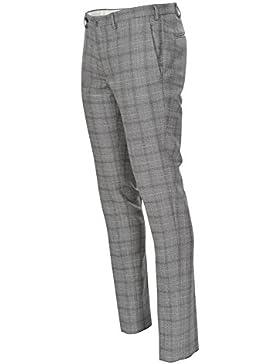 Incotex Pantalón Hombre 50 Gris lana ajustado Delgado Recto