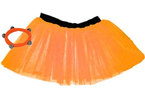 A-Express Orange Mädchen Kinder 8-14 Jahr Neon Tütü -