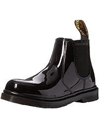 Dr. Martens Unisex Kids' Banzai Black Patent Lamper Chelsea Boots