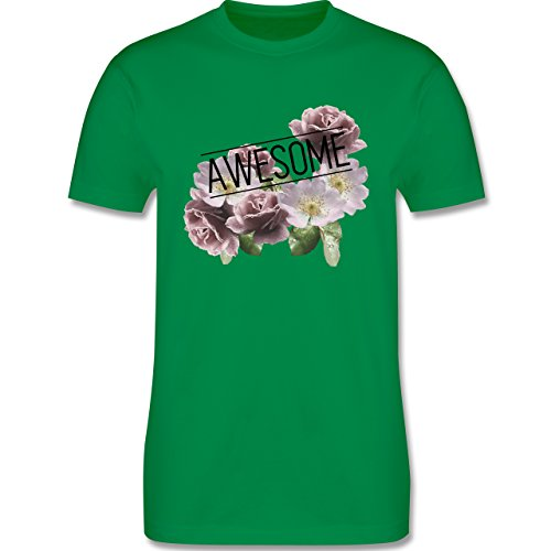 Statement Shirts - Awesome Blumen - Herren Premium T-Shirt Grün