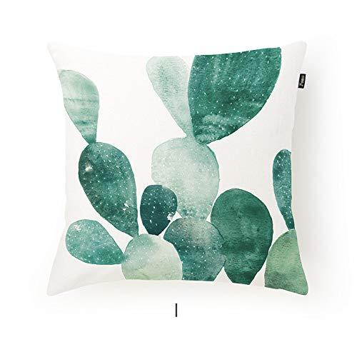 POPRY Vintage-45 * 45cm nordischen Stil Schlafsofa Baumwolle und Leinen Pflanze Kissenbezug Ohne Kern Kissen Kissen Platz, C