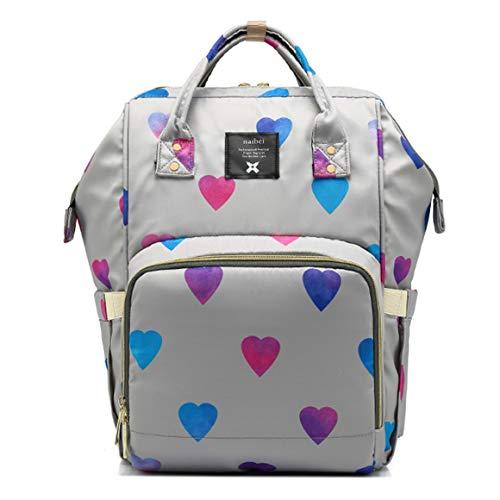 Jybag Frauen-Rucksack wasserdicht Anti-Diebstahls-weibliche Rucksack Multifunktionsfähigkeit Baby-Out-Travel-Handtasche mit Reißverschluss Leichtbau-Schüler Schultasche,Gray