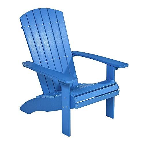 NEG Design Adirondack Stuhl Marcy (blau) Westport-Chair/Sessel aus Polywood-Kunststoff (Holzoptik, wetterfest, UV- und farbbeständig)