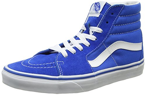 Vans Ua Sk8-Hi, Sneakers Hautes Homme Bleu (Suede/canvas Imperial Blue/true White)