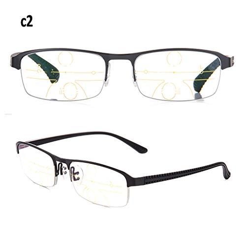 Axclg Reading glasses Unisex Blue Light Blocking-Brille, 5 Sekunden schnelle Verfärbung, Computer-Lesebrille, Anti Eyestrain (Grau, Schwarz, Braun, Blau)