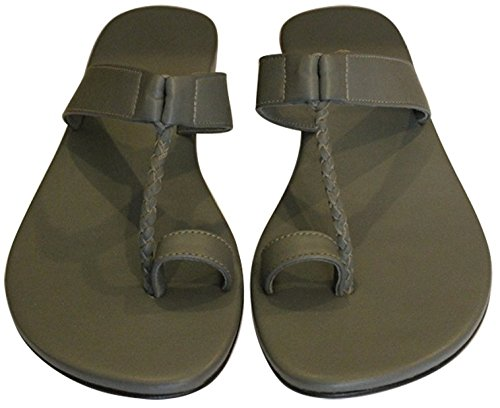 11sunshop Sandales en Cuir Model GHOZI Par Design EU 33 au 44 Grey