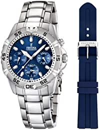 Festina Herren-Armbanduhr XL Chronograph Quarz Edelstahl F16635/3