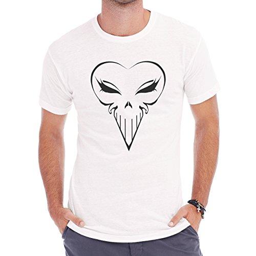 Punisher Skull Heart Shape Girl Edition Herren T-Shirt Weiß
