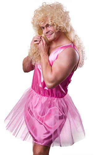 Xxl Kostüm Herren - Zahnfee Kostüm Herren pink Ballerina Balletttänzerin Herrenkostüm Junggesellenabschied (XX-Large)