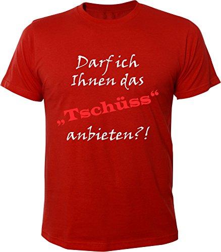 Mister Merchandise Herren Men T-Shirt darf Ich Ihnen Das Tschüss Anbieten Tee Shirt Bedruckt Rot