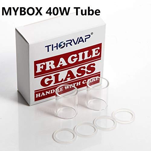 THORVAP MYBOX Arctic Glas tube für MYBOX 40W E Zigarette, ohne E Liquid, ohne Nikotin (2PCS)