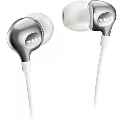 Philips Vibes SHE3700WT Ecouteurs Intra-auriculaires avec Basses, 3 Paires d'Embouts Inclus et Câble Renforcé, Blanc