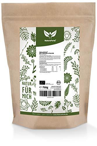 NaturaForte Bio Triphala Pulver 750g | Original Ayurveda aus indischer Landwirtschaft | 100% Natürliche Rezeptur | Laborgeprüft | Naturbelassen & Ohne Zusätze
