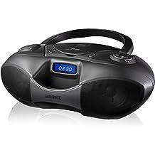Duronic RCD6200 Bluetooth CD Player Boombox Black