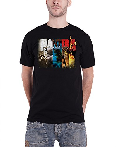 Pantera Music T-shirt (Pantera Herren T-Shirt Gr. XX-Large, Schwarz - Schwarz)