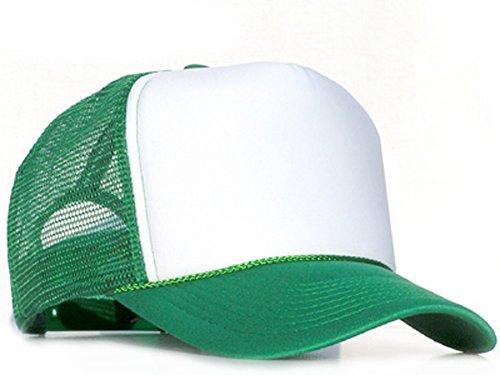 Bastart Caps Raphia Art Green casquette en maille de White
