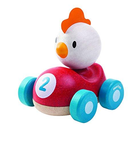 Plan Toys - Pollo el Piloto, coche de juguete (5679)