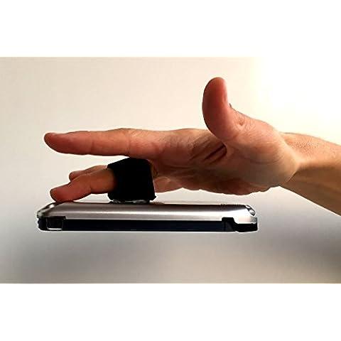 SPINPHONE NEGRO - ¡Paracaídas para tu móvil! NUEVO!! Gadget para teléfonos, tablets, e-books. Universal para todas las marcas y modelos. Comodidad, descanso y seguridad. Anti caídas y roturas. Antirrobo. Giro 360º Ideal para Selfies y para hacer fotos y videos en