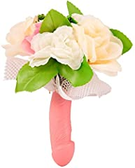 Idea Regalo - Dream' s Party Bouquet Fiori Sposa con Manico Pene per Addio al Nubilato - Gadget Idea scherzi Regalo di Matrimonio
