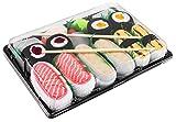Photo de Rainbow Socks - Femmes Hommes - Sushi Chaussettes Tamago Butterfish Saumon 2x Maki - 5 Paires par Sushi Socks Box