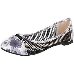 Damen Schuhe, YH-1, BALLERINAS, PUMPS, Synthetik in hochwertiger Lacklederoptik , Schwarz Multi, Gr 36